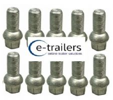 M14 TRAILER WHEEL BOLT 1.5 CONICAL REPLACE F1835ZPK IFOR WILLIAMS 19mm HEAD x 10